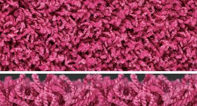 Shag frieze carpets samples