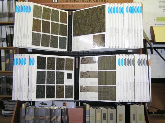 commercial carpets rack samples bigelow