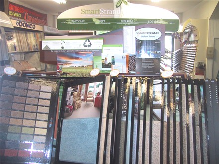 smartstrand sample rack environmental carpets
