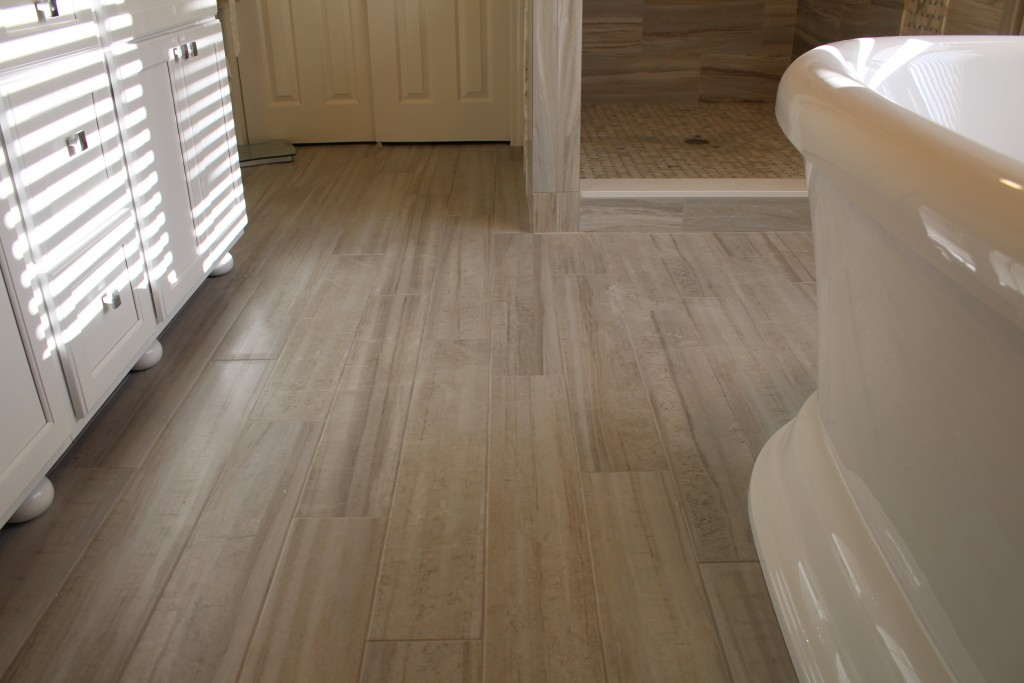 recent bathroom renovation with a warmly yours electric radiant heat